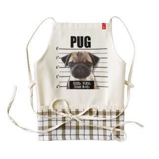 good pugs gone bad zazzle HEART apron