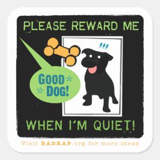 Good Quiet! Reward Stickers. Square Sticker