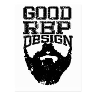 Good Rep Beard Postcard