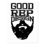 Good Rep Beard Postcards