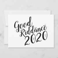 Good Riddance 2020 Doodles Custom Colors Card