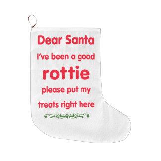 good rottie large christmas stocking