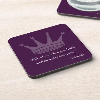 Good Ruler Quote - Aristotle Cork Coasters