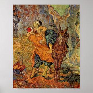 Good Samaritan (after Delacroix), Vincent van Gogh Poster