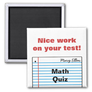 Good Schoolwork Personalized Magnet MM16bN