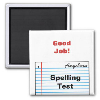 Good Schoolwork Personalized Magnet MM16hN