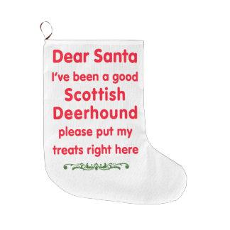 good Scottish Deerhound Large Christmas Stocking