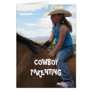 Good Seat Balance & Life - Cowboy Parenting Greeting Card