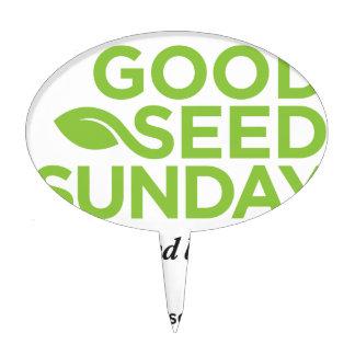 Good Seed Sunday Material Cake Picks