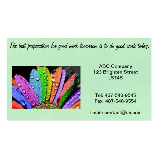 Good Service Business Double Sided Standard Business Cards