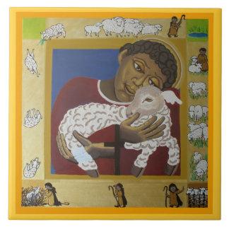 Good shepherd large square tile
