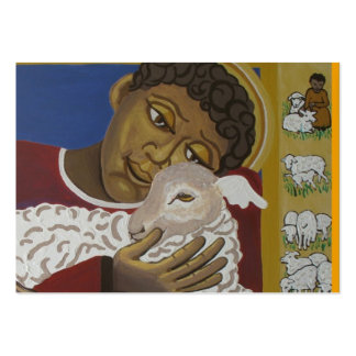 Good shepherd parable large business card