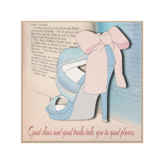 Good Shoes and Good Books. Canvas Print