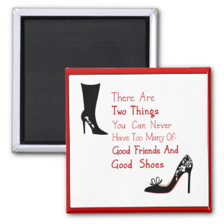 Good Shoes 2 Inch Square Magnet