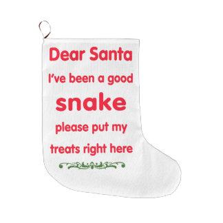 good snake large christmas stocking