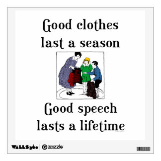 Good Speech Grammar Teacher Wall Decal