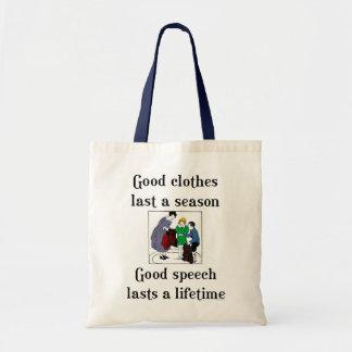 Good Speech School Saying Book Tote Bag