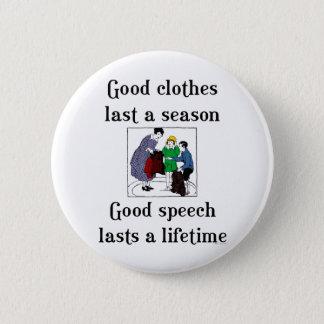 Good Speech School Saying Button