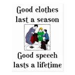 Good Speech School Saying Postcard