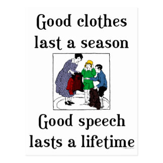 Good Speech School Saying Postcard