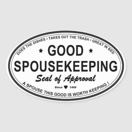 GOOD SPOUSEKEEPING OVAL STICKER