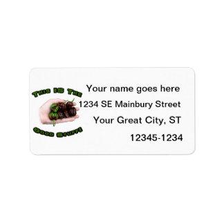 Good Stuff Chocolate Habanero Hot Pepper Design Address Label