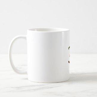 Good Stuff Five Habanero Hot Pepper Design mug