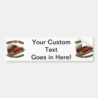 Good Stuff Habanero in Hand Hot Pepper Design Bumper Sticker