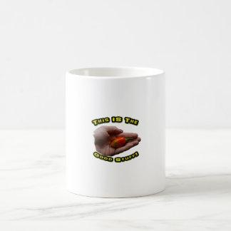 Good Stuff Habanero in Hand Hot Pepper Design Coffee Mugs
