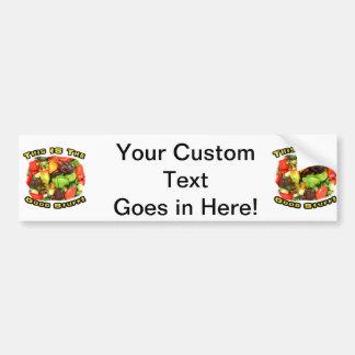 Good Stuff Hot Pepper Pile Design Image Bumper Sticker