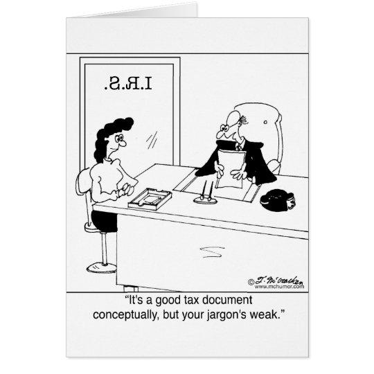 Good Tax Document Conceptually Card