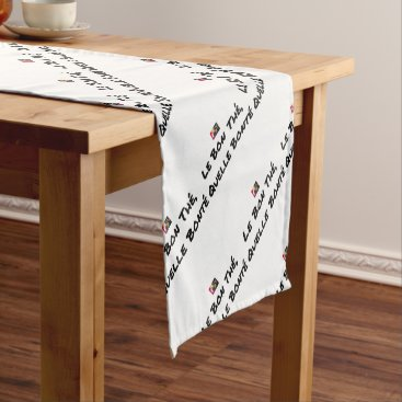 Coffee Themed GOOD TEA, WHICH KINDNESS - Word games Short Table Runner