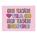 Good Teachers Teach Postcard