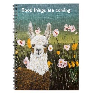 Good Things Are Coming Mama Llama Notebook