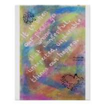 """Good Things Come From """"Mistakes"""" - Wise Hedgehog Poster"""