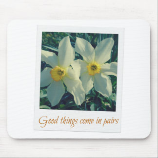 good things come in pairs mouse pad