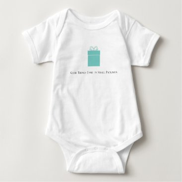 McTiffany Tiffany Aqua Good Things Come in Small Packages Baby Bodysuit