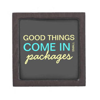 Good Things Come in Small Packages - Blue & Yellow Gift Box