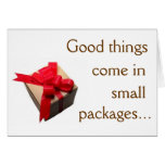 Good Things Come in Small Packages Stationery Note Card