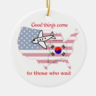 Good Things Come - Korean Adoption Ceramic Ornament