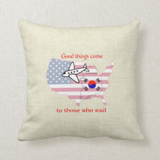 Good Things Come - Korean adoption Throw Pillow
