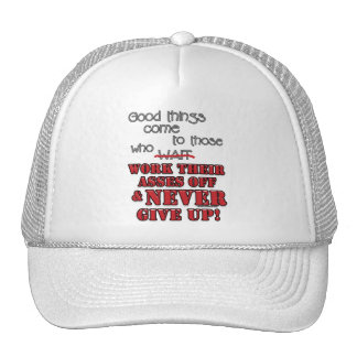 Good things come to those who 2 trucker hats