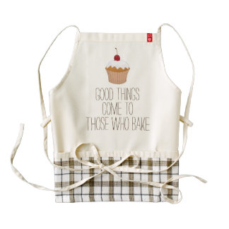 Good things come to those who bake funny humor zazzle HEART apron