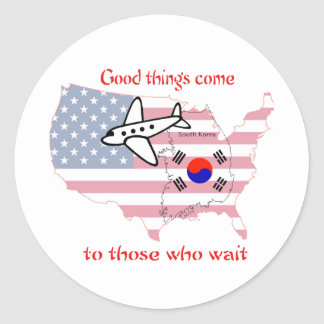 Good Things Come to Those Who Wait (Korean Adopt) Classic Round Sticker