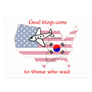 Good things come to those who wait (Korean adopt) Postcard