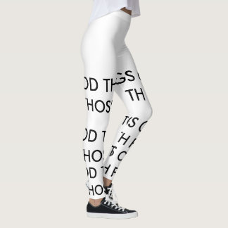 GOOD THINGS COME TO THOSE WITH FAITH LEGGINGS