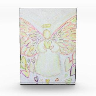 Good Things Guardian Angel Art Custom Paperweight Acrylic Award