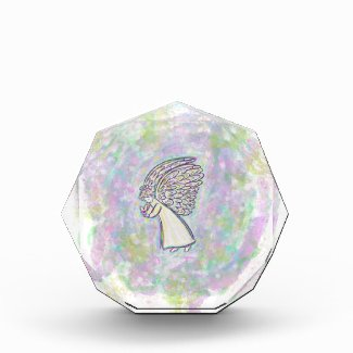 Good Things Guardian Angel Art Custom Paperweight Acrylic Award