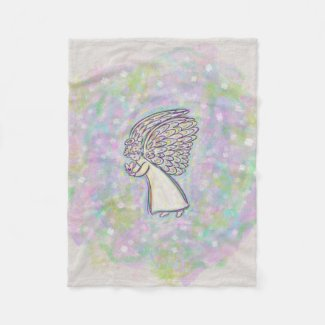 Good Things Guardian Angel Custom Fleece Blanket
