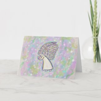 Good Things Guardian Angel Custom Greeting Cards
